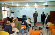 السيد عميد كلية الآثار يتفقد سير امتحانات الفصل الدراسي الأول