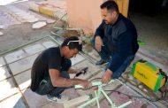 وحدة الصيانة والخدمات تنجز اعمالها اليومية الموكله اليها باخلاص وتفاني