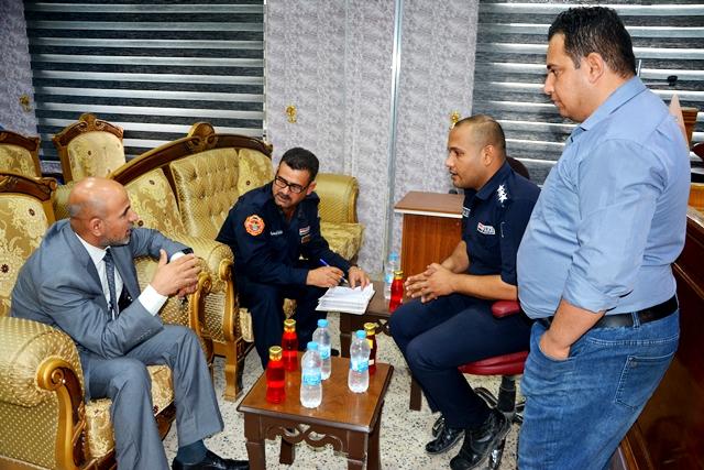 مديرية الدفاع المدني تزور كلية الأثار