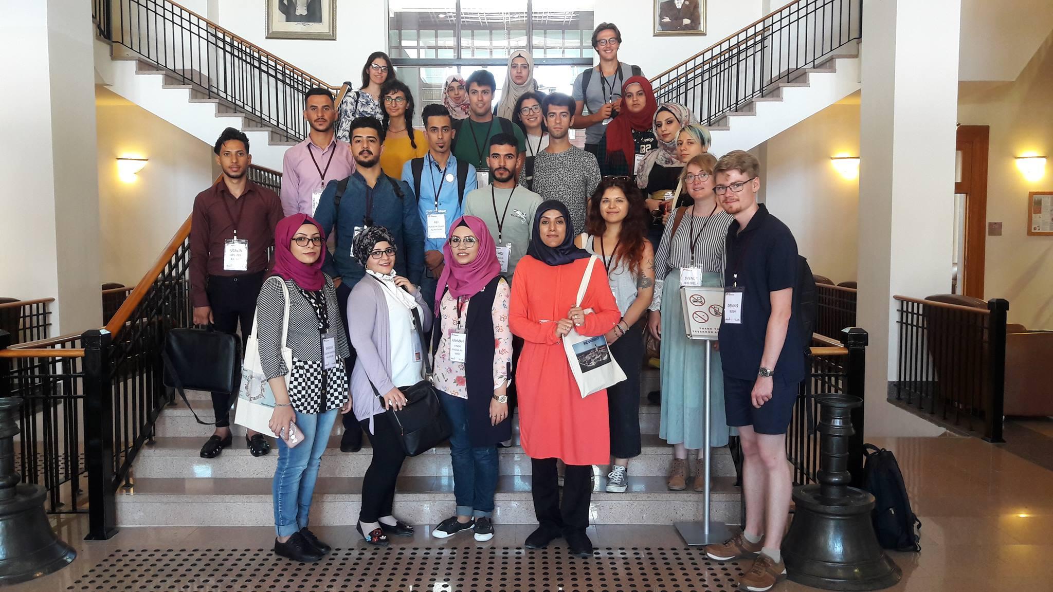 وفد من كلية الأثار يزور جامعة كوج التركية للمشاركة في التدريب الصيفي