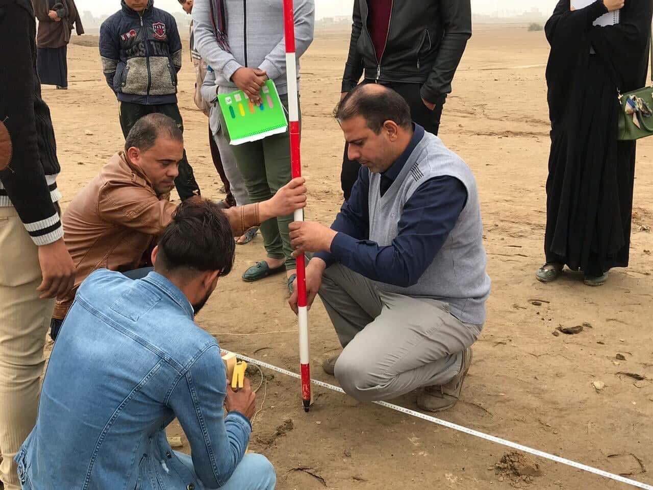 كلية الأثار في جامعة القادسية تجري اعمال التنقيبات الأثرية في موقع تل المخده الأثري