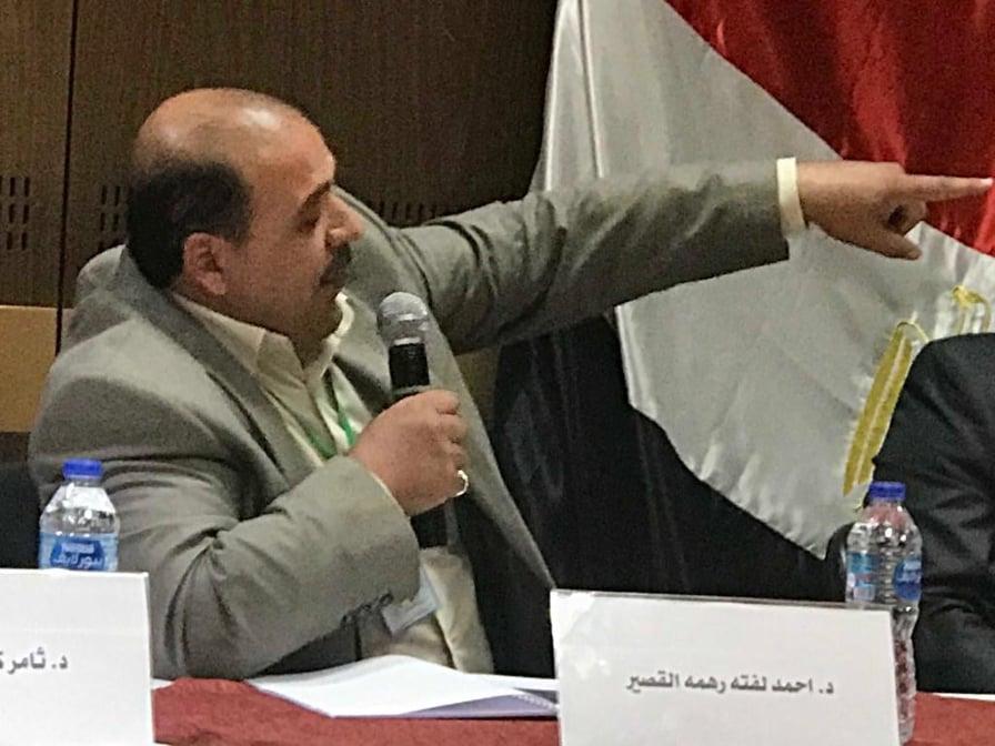 الدكتور احمد لفتة القصير يشارك في المؤتمر الدولي في جامعة القاهرة، كلية الاداب