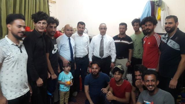السيد عميد كلية الاثار في زيارة الاقسام الداخلية