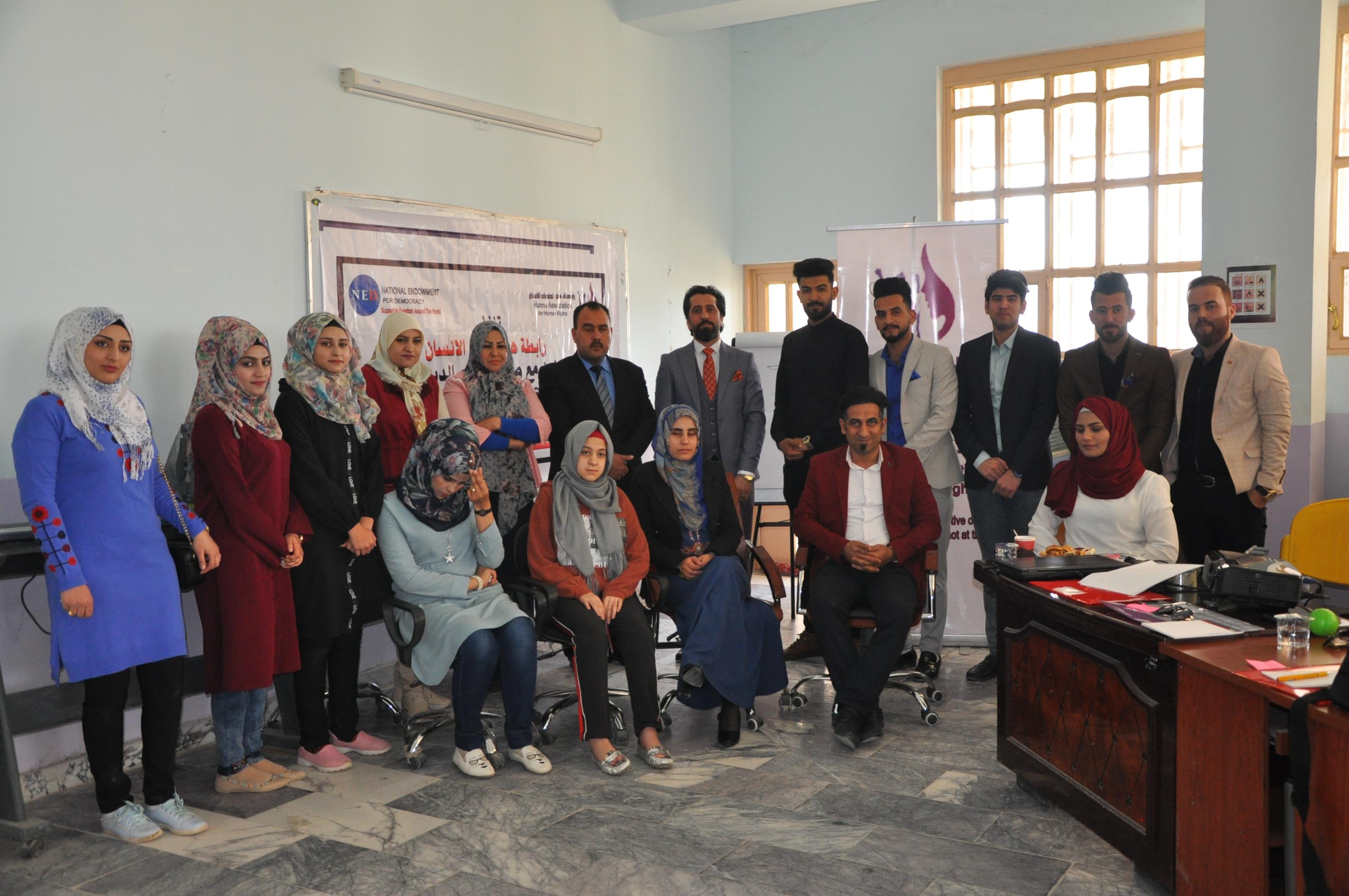 كلية الآداب بجامعة القادسية تقيم ورشة عمل  بعنوان (ثقافة الحوار )
