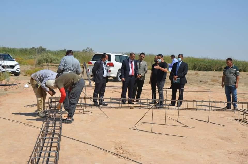 رئيس جامعة القادسية يتابع ميدانيا مراحل الاعمار والبناء في رحاب كلية الاداب