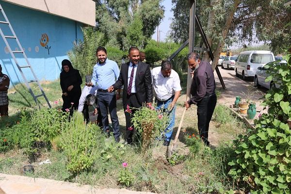 حملة الاستزراع الثانية في كلية التقانات الاحيائية/ جامعة القادسية