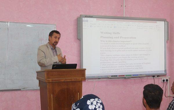 نظمت كلية التقانات الاحيائية في جامعة القادسية ورشة عمل حول (كيفة كتابة بحثاً جامعياً )