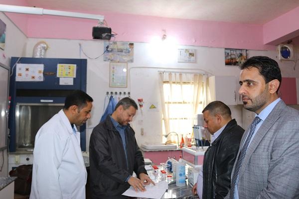 زارت لجنة مشكلة من أقسام الصيانة والمخازن في جامعة القادسية  في الديوانية كلية التقانات الاحيائية