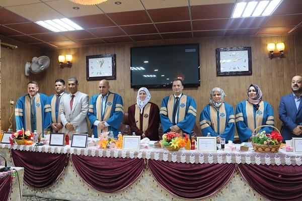 تهنئة للتدريسية م.د. هديل جبار نعمة بمناسبة حصولها على شهادة الدكتوراه بدرجة امتياز