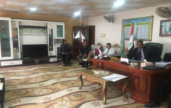 زيارة السيد رئيس جامعة القادسية المحترم لكلية التقانات الاحيائية