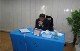 مناقشة طالب الماجستير(فائز جواد عبد الكاظم )
