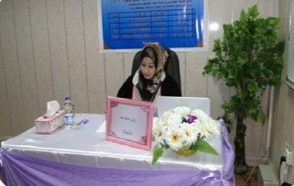 مناقشة رسالة طالبة الماجستير (رؤى مسلم عبد )