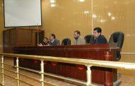 لقاء السيد العميد الاستاذ المساعد الدكتور هشام البيرماني المحترم  بطلبة المرحلة الاولى