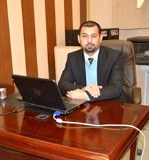 تهنئة عمادة الكلية للتدريسي اثير هادي عيسى بمناسبة حصوله على لقب (مدرس)