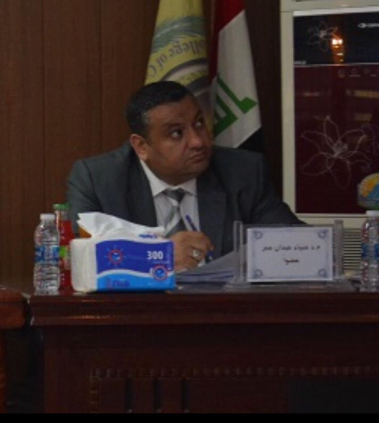 تهنئة للمدرس الدكتور ضياء عيدان جبر الشمري لحصوله على لقب استاذ مساعد