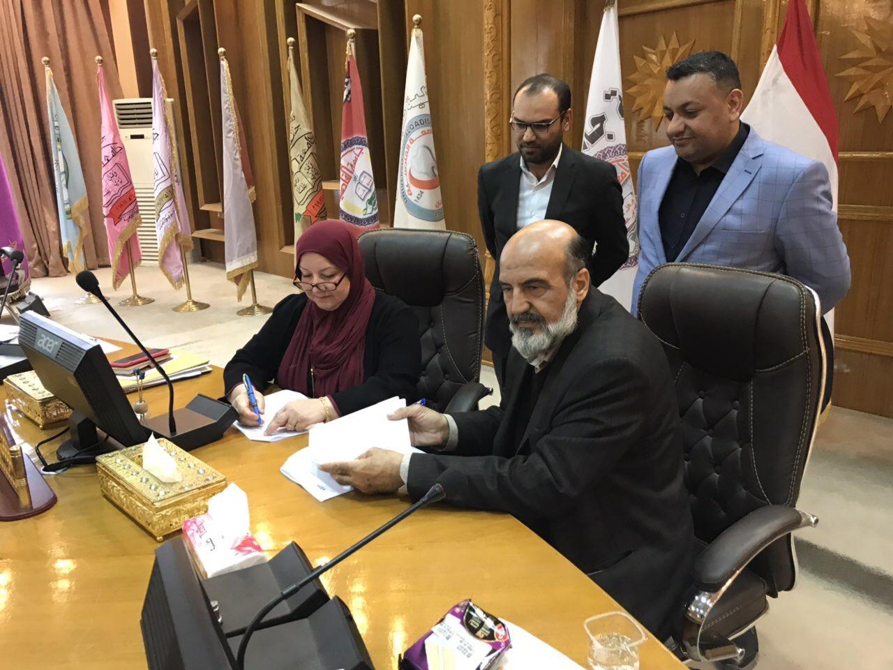 توقيع اتفاقية بين جامعة القادسية ومؤسسة IEEE العالمية في نشر البحوث الرصينة