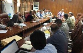 الاجتماعات التحضيرية للمؤتمر العلمي الدولي للاقسام العلمية في كلية التربية