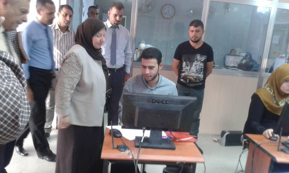 متابعة الامتحان التنافسي من قبل رئاسة الجامعة