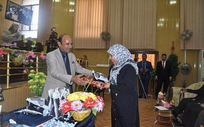 كلية الهندسة تشارك في الحفل الذي اقامتها جامعة القادسية في يوم المرأة العراقية