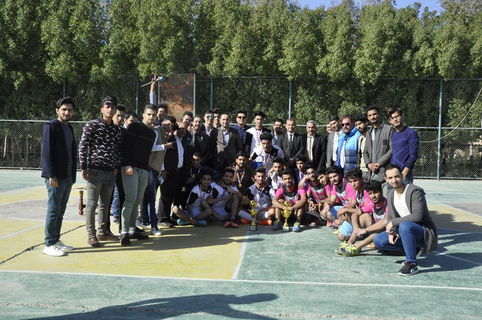 اختتام بطولة النصر العظيم لخماسي كرة القدم في كلية الهندسة