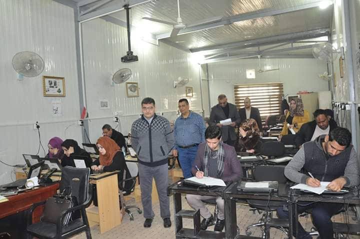 كلية الهندسة تجري امتحان اللغة الانكليزية لطلبة الدراسات العليا / الماجستير ( السنة التحضيرية )