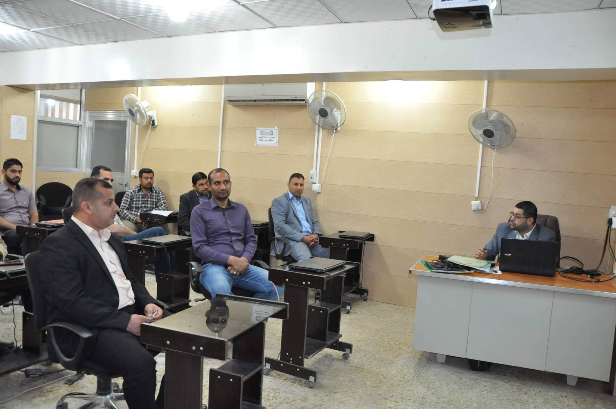 كلية الهندسة تقيم ورشة علمية حول ادارة نظام المقررات