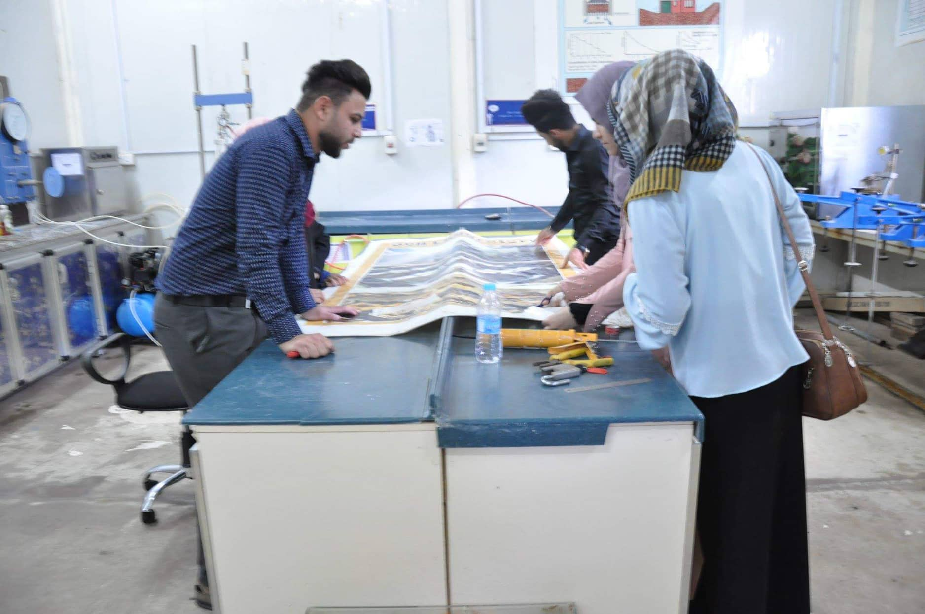 انطلاق حملة تطوعية في مختبرات قسم الهندسة المدنية