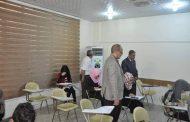 رئيس جامعة القادسية يتفقد القاعات الامتحانية لطلبة كلية الهندسة