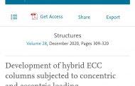 مجلة الانشاءات ( Structures) العالمية تنشر بحث مشترك لطالب دراسات عليا وتدريسي في قسم الهندسة المدنية