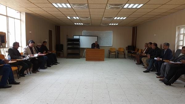 الواقع الطموح في اجتماع السيد عميد كلية الفنون الجميلة بالهيئة التدريسية