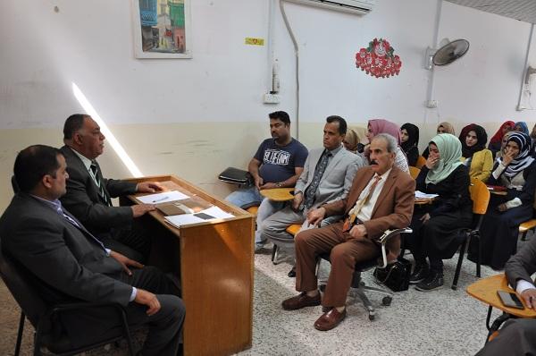 ندوة فكرية بعنوان( المخطط الداعشي في تفتيت النسيج الاجتماعي العراقي) قدمها (أ.م.د.عصام حسن احمد الدليمي)