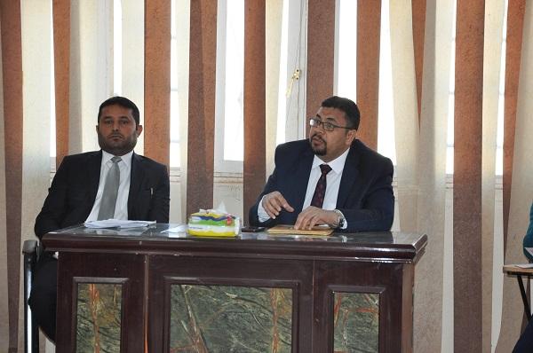 اجتماع السيد عميد الكلية ومرحلة البناء والاعمار