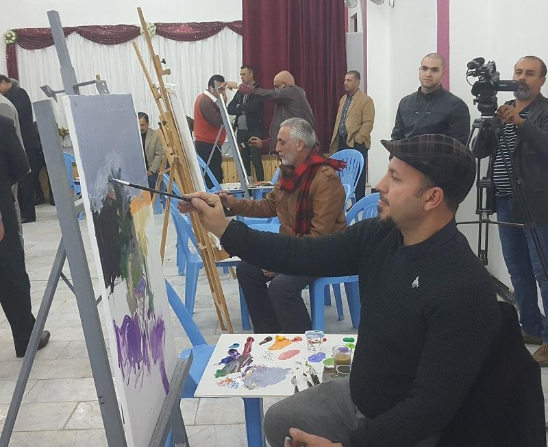 نقابة الفنانين في الديوانية تقيم سمبوزيوم للرسم الحر بالتعاون مع كلية الفنون الجميلة