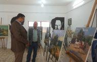 قسم التربية الفنية يقيم المعرض الشخصي للفنان  صلاح هادي