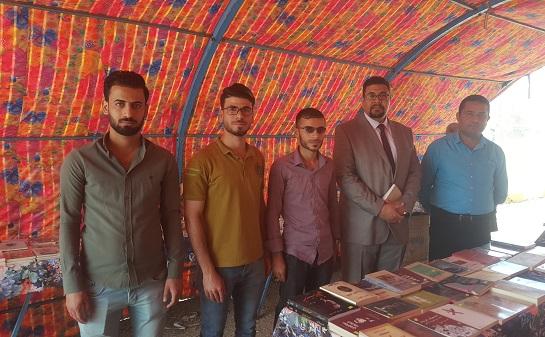 كلية الفنون الجميلة تقيم معرضا للكتاب بمناسبة اختيار بغداد عاصمة الاعلام العربي