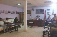 اجتماع السيد عميد كلية الفنون الجميلة مع اعضاء الهيئة التدريسية للكلية