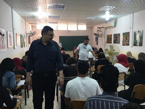 كلية الفنون الجميلة جامعة القادسية  تباشر بأداء الامتحانات النهائية لطلبتها للعام الدراسي 2018 2019