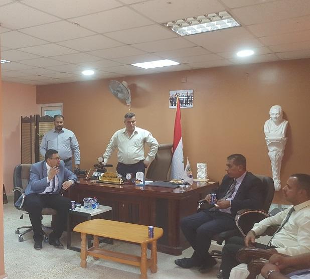 السيد رئيس جامعة القادسية يزور كلية الفنون الجميلة للاطلاع على خطوات اكمال البرنامج الحكومي