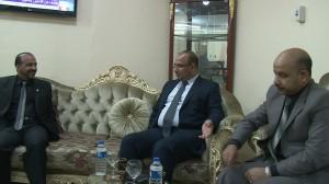 زيارة رئيس مجلس محافظة الديوانية الى عميد كلية القانون