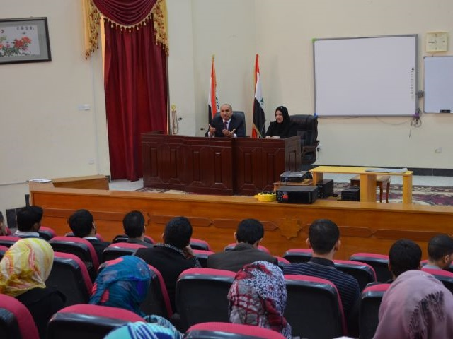 التقى السيد عميد كلية الصيدلة الدكتور باسم ارحيم محمد الشباني الكادر التدريسي لكلية الصيدلة