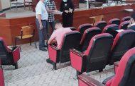 استمرار الامتحانات الحضورية للدور الثاني في كلية الصيدلة جامعة القادسية .