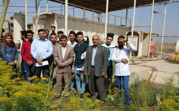 زيارة ميدانية لمحطة تنقية المياه في جامعة القادسية