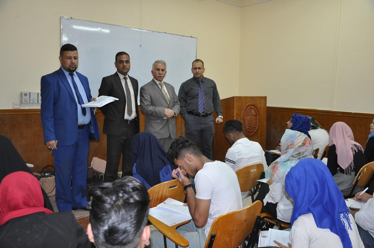 بدء الامتحانات النهائية في الاقسام العلمية في كلية العلوم بجامعة القادسية