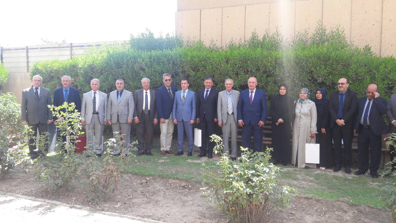 السيد عميد كلية العلوم يحضر اجتماع لجنة عمداء كليات العلوم الصرفة في جامعة بغداد
