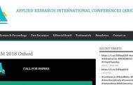 تدريسية من كلية العلوم تشارك في مؤتمر البحث التطبيقي في العلوم والتكنولوجيا والهندسة والرياضيات (ARIC-STEM) 2018 ، أكسفورد ، المملكة المتحدة