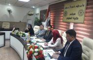 اجتماع رؤوساء اقسام  كليتنا في جامعة الكوفة للتهيؤ للامتحان التقويمي للمرحلة الرابعة.