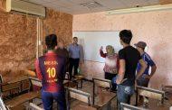 كلية العلوم في جامعة القادسية تنظم حملة تطوعية لترميم وصيانة القاعات الدراسية