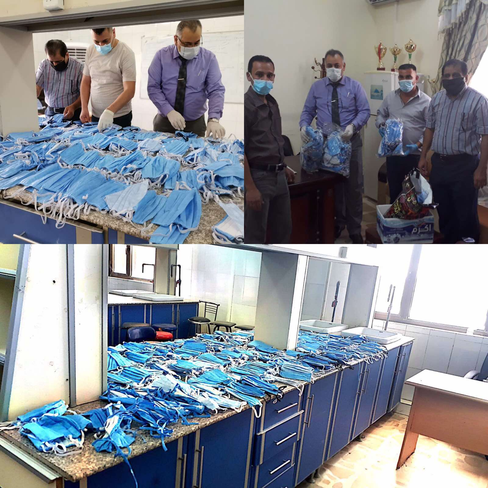 تصنيع 500 كمام : مبادرة تطوعية لطلبة كلية العلوم قسم الكيمياء للحد من انتشار COVID-19