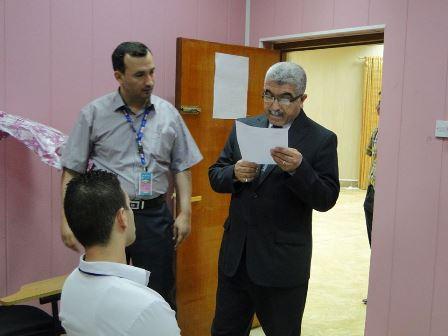زيارة د. احسان القريشي الى كلية التربية الرياضية