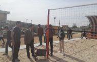 استحداث لعبة الكرة الطائرة الشاطئية ولأول مرة في كلية التربية البدنية وعلوم الرياضة